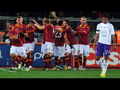 AS Roma VS Fiorentina 4-0 Lanjutan Serie A