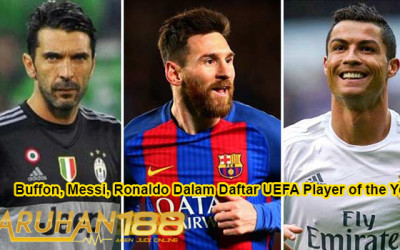 Buffon Messi Ronaldo Dalam Daftar UEFA Player of the Year
